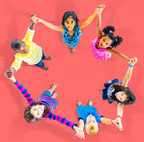 Children Kids Cheerful Unity Diversity Concept Stock Images