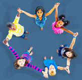 Children Kids Cheerful Unity Diversity Concept Royalty Free Stock Image
