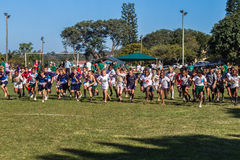 Children Cross-Country Race  Stock Photography