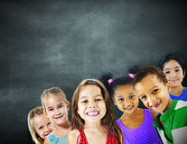 Children Kids Diversity Education Happiness Cheerful Concept.  Royalty Free Stock Photography