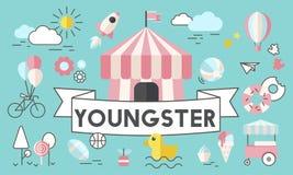Children Kids Energetic Youth Playful Concept. Children Kids Energetic Youth Playful royalty free illustration