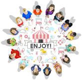 Children Kids Energetic Youth Playful Concept Stock Photo