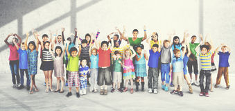 Children Kids Happines Multiethnic Group Cheerful Concept Royalty Free Stock Images