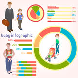 Children kids people concept icons set. Royalty Free Stock Images