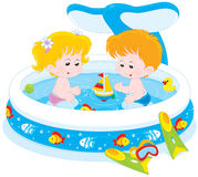 Children in a kids pool Royalty Free Stock Photography