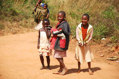The children of Kilolo mountain in Tanzania -Africa Royalty Free Stock Photography