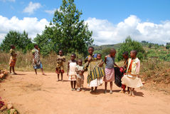 The children of Kilolo mountain in Tanzania - Africa Stock Image