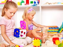 Children in kindergarten. Royalty Free Stock Image