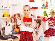 Children in kindergarten. Royalty Free Stock Photos
