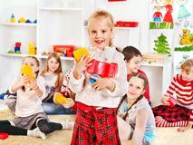 Children in kindergarten. Royalty Free Stock Images