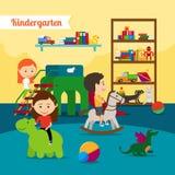 Children in Kindergarten Royalty Free Stock Image