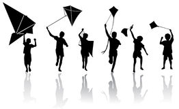 Children with kite  Royalty Free Stock Photos
