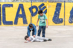 Children in La Boca neighbourhood in Buenos Aires, Argentina Royalty Free Stock Images