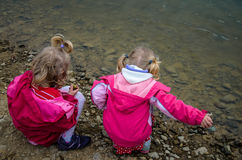 Children and lake Royalty Free Stock Photo