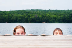 Children in a lake Royalty Free Stock Photography