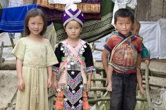 Children in Laos. Usually grow up in miserable conditions Royalty Free Stock Photo