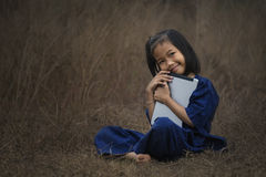 Children with laptop Stock Photography
