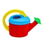 Children& x27; lata molhando de s isolada no fundo branco Imagem de Stock Royalty Free