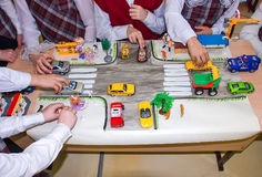Children learn traffic rules Royalty Free Stock Photography