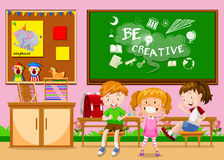 Children learning in the classroom Royalty Free Stock Photography