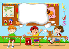 Children learning in the classroom Royalty Free Stock Photos