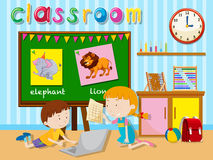 Children learning in the classroom Stock Photos