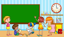 Children learning in the classroom Stock Photo