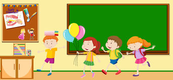 Children learning in the classroom Stock Image