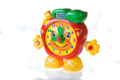 Children learning clock. Children learning watch on white Royalty Free Stock Image