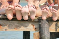 Children legs Royalty Free Stock Images
