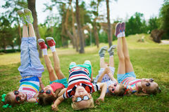 Children at leisure royalty free stock photography