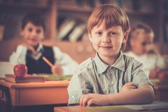 Children during lesson in school Stock Images