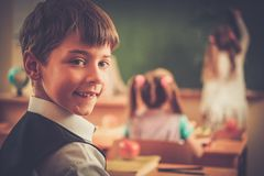 Children during lesson in school Stock Photos