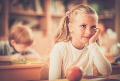 Children during lesson in school Royalty Free Stock Photos