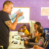 Children in lesson at school by project Cambodian Kids Care Stock Photography