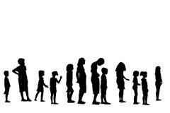 Children in line Stock Image