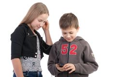 Children listen to music Royalty Free Stock Photos