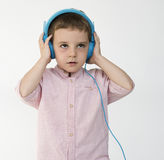 Children Listening Music Song Headphones Concept Royalty Free Stock Photos
