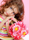 Children little fashion girl Royalty Free Stock Photos