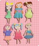 Children, little girls set. Children,different  little girls set Stock Photo