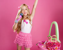 Children little star singer fashion Stock Photo