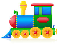 Children locomotive vector illustration Royalty Free Stock Photo