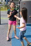 Children with Lollipop at Playground Royalty Free Stock Photography
