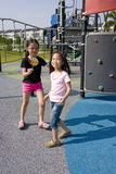 Children with Lollipop at Playground Stock Image