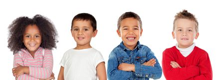 Children looking at camera Stock Images