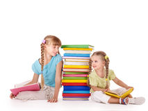 Children  looking at each other. Royalty Free Stock Image