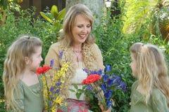 Children looking at grandma Royalty Free Stock Photo