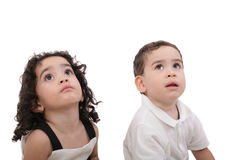 Children looking up Royalty Free Stock Images