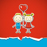 Children in love Royalty Free Stock Photo