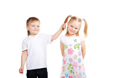 Children love. Couple of small kids Stock Image